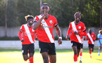 SOUTHAMPTON, ENGLAND - SEPTEMBER 26: Dan N'Lundulu goal celebration during Premier League 2 Match between Southampton B Team and West Ham United at Staplewood Training Ground on September 26, 2020 in Southampton, England. (Photo by Isabelle Field/Southampton FC via Getty Images)