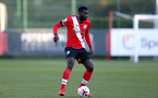 SOUTHAMPTON, ENGLAND - SEPTEMBER 26: Pascal Kpohomouh of Southampton during Premier League 2 Match between Southampton B Team and West Ham United at Staplewood Training Ground on September 26, 2020 in Southampton, England. (Photo by Isabelle Field/Southampton FC via Getty Images)