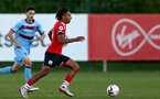 SOUTHAMPTON, ENGLAND - SEPTEMBER 26: Caleb Watts of Southampton during Premier League 2 Match between Southampton B Team and West Ham United at Staplewood Training Ground on September 26, 2020 in Southampton, England. (Photo by Isabelle Field/Southampton FC via Getty Images)