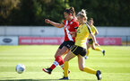 Southampton, ENGLAND - SEPTEMBER 27:Kirsty Whitton (L) of Southampton  during the FAWNL match between Southampton Women and Buckland Athletic at Snows Stadium on September 27, 2020 in Southampton, United Kingdom (Photo by Isabelle Field/Southampton FC via Getty Images)