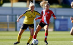 Southampton, ENGLAND - SEPTEMBER 27: Phoebe Williams (R) of Southampton during the FAWNL match between Southampton Women and Buckland Athletic at Snows Stadium on September 27, 2020 in Southampton, United Kingdom (Photo by Isabelle Field/Southampton FC via Getty Images)
