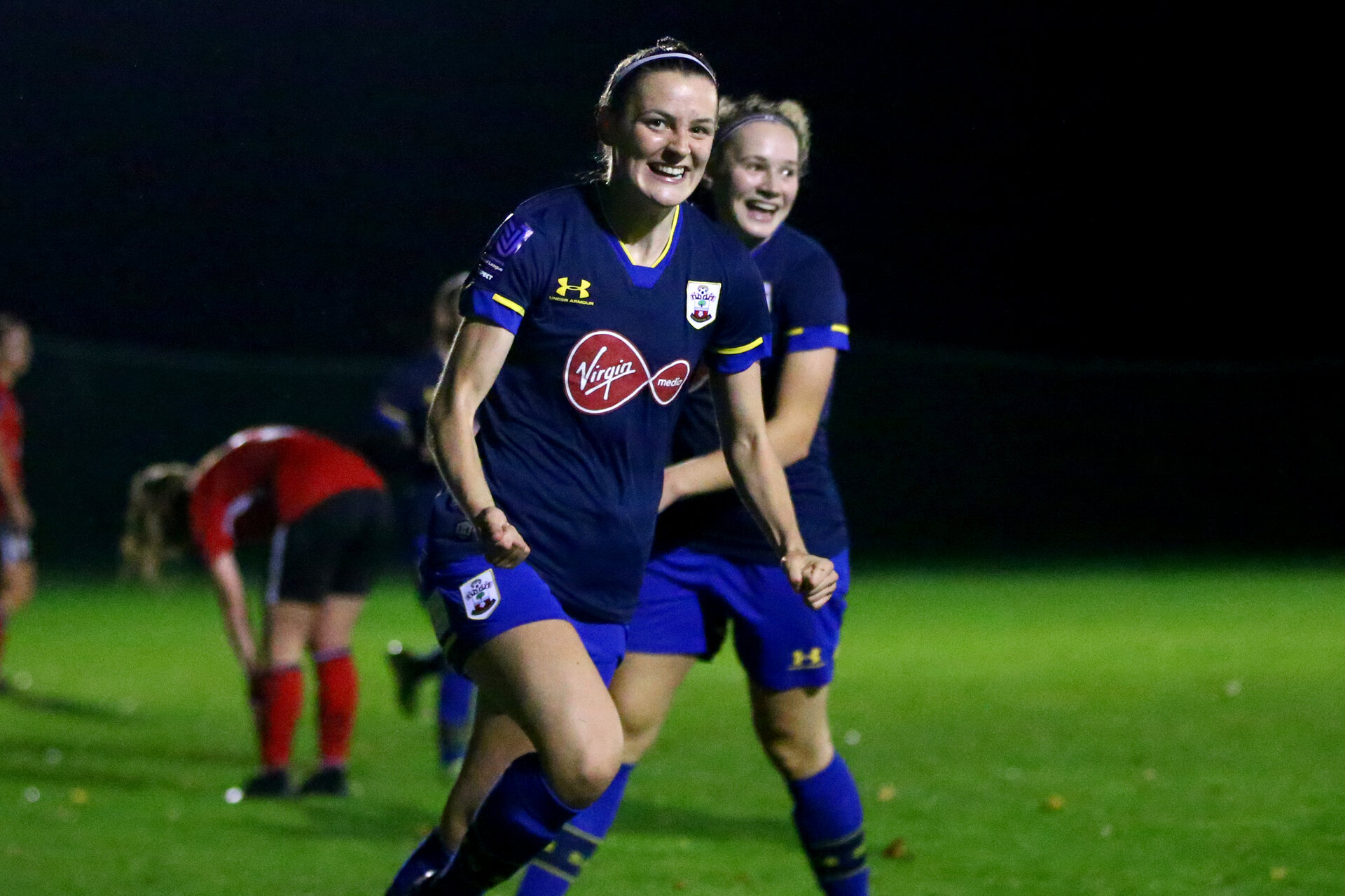Southampton, ENGLAND - SEPTEMBER 30: during the FAWNL match between Southampton Womens and Southampton FC Women at Alresford Town on September 30, 2020 in Southampton, United Kingdom (Photo by Isabelle Field/Southampton FC via Getty Images)