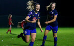 Southampton, ENGLAND - SEPTEMBER 30: Ella Pusey goal celebration during the FAWNL match between Southampton Womens and Southampton FC Women at Alresford Town on September 30, 2020 in Southampton, United Kingdom (Photo by Isabelle Field/Southampton FC via Getty Images)