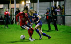 Southampton, ENGLAND - SEPTEMBER 30: Ella Pusey (R) of Southampton during the FAWNL match between Southampton Womens and Southampton FC Women at Alresford Town on September 30, 2020 in Southampton, United Kingdom (Photo by Isabelle Field/Southampton FC via Getty Images)