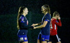 Southampton, ENGLAND - SEPTEMBER 30: Georgie Freeland (L) of Southampton and Ella Pusey (R) of Southampton celebrating so Georgie Freeland goal during the FAWNL match between Southampton Womens and Southampton FC Women at Alresford Town on September 30, 2020 in Southampton, United Kingdom (Photo by Isabelle Field/Southampton FC via Getty Images)