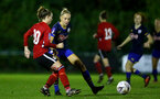 Southampton, ENGLAND - SEPTEMBER 30: Phoebe Williams (R) of Southampton during the FAWNL match between Southampton Womens and Southampton FC Women at Alresford Town on September 30, 2020 in Southampton, United Kingdom (Photo by Isabelle Field/Southampton FC via Getty Images)