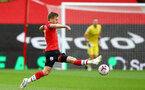 SOUTHAMPTON, ENGLAND - OCTOBER 04: Stuart Armstrong of Southampton during the Premier League match between Southampton and West Bromwich Albion at St Mary's Stadium on October 4, 2020 in Southampton, United Kingdom. Sporting stadiums around the UK remain under strict restrictions due to the Coronavirus Pandemic as Government social distancing laws prohibit fans inside venues resulting in games being played behind closed doors. (Photo by Matt Watson/Southampton FC via Getty Images)