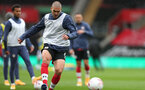 SOUTHAMPTON, ENGLAND - OCTOBER 04: Oriol Romeu during the Premier League match between Southampton and West Bromwich Albion at St Mary's Stadium on October 4, 2020 in Southampton, United Kingdom. Sporting stadiums around the UK remain under strict restrictions due to the Coronavirus Pandemic as Government social distancing laws prohibit fans inside venues resulting in games being played behind closed doors. (Photo by Chris Moorhouse/Southampton FC via Getty Images)