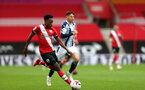SOUTHAMPTON, ENGLAND - OCTOBER 04: Kyle Walker-Peters during the Premier League match between Southampton and West Bromwich Albion at St Mary's Stadium on October 4, 2020 in Southampton, United Kingdom. Sporting stadiums around the UK remain under strict restrictions due to the Coronavirus Pandemic as Government social distancing laws prohibit fans inside venues resulting in games being played behind closed doors. (Photo by Chris Moorhouse/Southampton FC via Getty Images)