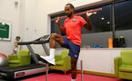 SOUTHAMPTON, ENGLAND - OCTOBER 05: Southampton FC sign Theo Walcott on a season-long loan deal, pictured during his medical on October 05, 2020 in Southampton, England. (Photo by Matt Watson/Southampton FC via Getty Images)
