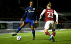 NORTHAMPTON, ENGLAND - OCTOBER 06: Yan Valery (L) of Southampton during EFL Cup match between Northampton Town FC and Southampton FC B Team at the PTS Academy Stadium on October 6, 2020 in Northampton, England. (Photo by Isabelle Field/Southampton FC via Getty Images)