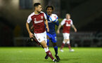 NORTHAMPTON, ENGLAND - OCTOBER 06: Ramello Mitchell (R) of Southampton during EFL Cup match between Northampton Town FC and Southampton FC B Team at the PTS Academy Stadium on October 6, 2020 in Northampton, England. (Photo by Isabelle Field/Southampton FC via Getty Images)
