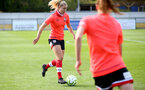 SOUTHAMPTON, ENGLAND - OCTOBER 11: Kelly Snook ahead of FAWNL match between Southampton Women and Exeter City at Snows Stadium on October 11, 2020 in Southampton, England. (Photo by Isabelle Field/Southampton FC via Getty Images)