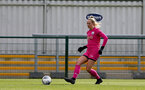 SOUTHAMPTON, ENGLAND - OCTOBER 11: Kayla  Rendell of Southampton during FAWNL match between Southampton Women and Exeter City at Snows Stadium on October 11, 2020 in Southampton, England. (Photo by Isabelle Field/Southampton FC via Getty Images)