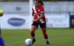 SOUTHAMPTON, ENGLAND - OCTOBER 11: Shannon Siewright of Southampton during FAWNL match between Southampton Women and Exeter City at Snows Stadium on October 11, 2020 in Southampton, England. (Photo by Isabelle Field/Southampton FC via Getty Images)