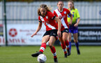 SOUTHAMPTON, ENGLAND - OCTOBER 11: Lucia Kendell of Southampton during FAWNL match between Southampton Women and Exeter City at Snows Stadium on October 11, 2020 in Southampton, England. (Photo by Isabelle Field/Southampton FC via Getty Images)