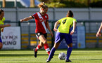 SOUTHAMPTON, ENGLAND - OCTOBER 11: Kelly Snook (L) of Southampton during FAWNL match between Southampton Women and Exeter City at Snows Stadium on October 11, 2020 in Southampton, England. (Photo by Isabelle Field/Southampton FC via Getty Images)