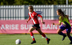 SOUTHAMPTON, ENGLAND - OCTOBER 11: Shannon Albuery of Southampton during FAWNL match between Southampton Women and Exeter City at Snows Stadium on October 11, 2020 in Southampton, England. (Photo by Isabelle Field/Southampton FC via Getty Images)