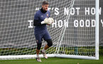 SOUTHAMPTON, ENGLAND - OCTOBER 23: Fraser Forster during a Southampton FC training session at the Staplewood Campus on October 23, 2020 in Southampton, England. (Photo by Matt Watson/Southampton FC via Getty Images)