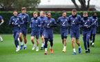 SOUTHAMPTON, ENGLAND - OCTOBER 30: Theo Walcott(centre) during a Southampton FC training session at the Staplewood Campus on October 30, 2020 in Southampton, England. (Photo by Matt Watson/Southampton FC via Getty Images)