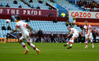 BIRMINGHAM, ENGLAND - NOVEMBER 01: James Ward-Prowse of Southampton scores second free kick during the Premier League match between Aston Villa and Southampton at Villa Park on November 01, 2020 in Birmingham, England. Sporting stadiums around the UK remain under strict restrictions due to the Coronavirus Pandemic as Government social distancing laws prohibit fans inside venues resulting in games being played behind closed doors. (Photo by Matt Watson/Southampton FC via Getty Images)