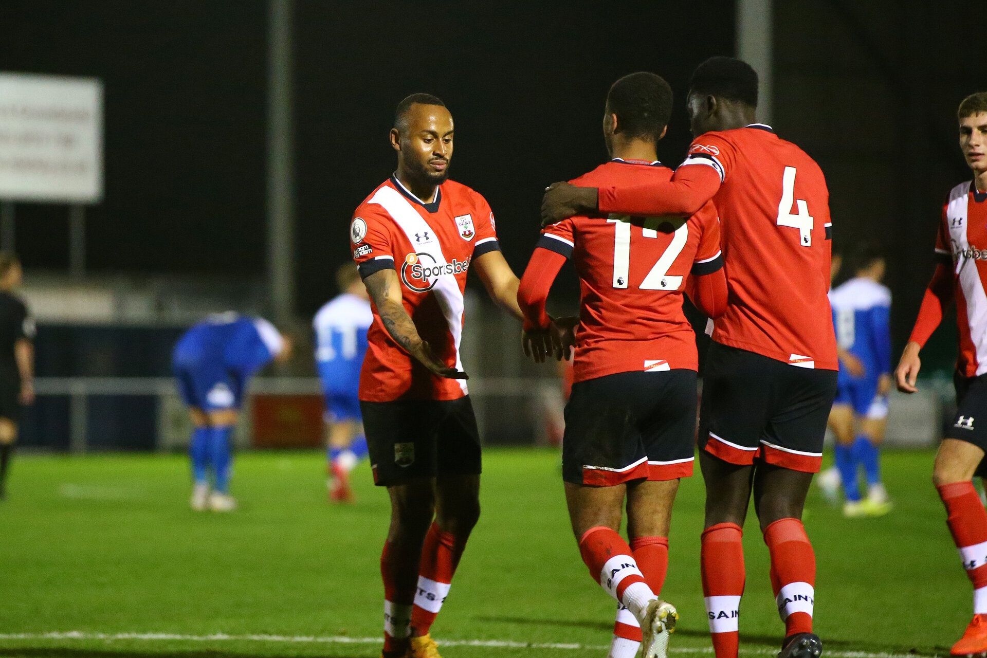 SOUTHAMPTON, ENGLAND - NOVEMBER 02: <<enter caption here>> during the Hampshire FA Senior Cup semi-final between Eastleigh FC and Southampton FC B Team at Silverlake Stadium on November 02, 2020 in Southampton, England. (Photo by Isabelle Field/Southampton FC via Getty Images) (Photo by Isabelle Field/Isabelle Field)