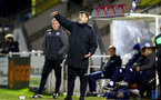 SOUTHAMPTON, ENGLAND - NOVEMBER 02: David Horseman Southampton B Team head coach during the Hampshire FA Senior Cup semi-final between Eastleigh FC and Southampton FC B Team at Silverlake Stadium on November 02, 2020 in Southampton, England. (Photo by Isabelle Field/Southampton FC via Getty Images) (Photo by Isabelle Field/Isabelle Field)