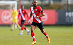 SOUTHAMPTON, ENGLAND - NOVEMBER 07: Tyreke Johnson of Southampton during the Premier League 2 match between Southampton FC B Team and Manchester City at Staplewood Training Ground on November 07, 2020 in Southampton, England. (Photo by Isabelle Field/Southampton FC via Getty Images) (Photo by Isabelle Field/Isabelle Field)