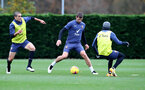 SOUTHAMPTON, ENGLAND - NOVEMBER 21: Jack Stephens(centre) and Oriol Romeu(L) during a Southampton FC training session at the Staplewood Campus on November 21, 2020 in Southampton, England. (Photo by Matt Watson/Southampton FC via Getty Images)