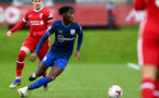 LIVERPOOL, ENGLAND - NOVEMBER 21: Kgaogelo Chauke of Southampton during the Premier League 2 match between Liverpool and Southampton FC B Team at the Liverpool Academy on November 21, 2020 in Liverpool , England. (Photo by Isabelle Field/Southampton FC via Getty Images) (Photo by Isabelle Field/Isabelle Field)