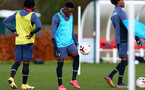 SOUTHAMPTON, ENGLAND - DECEMBER 03 : Kazeem Olaigbe  during Southampton U18s training session at Staplewood Complex on December 03, 2020 in Southampton, England. (Photo by Isabelle Field/Southampton FC via Getty Images)