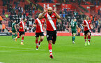 SOUTHAMPTON, ENGLAND - DECEMBER 13: Nathan Redmond of Southampton celebrates after making it 2-0 during the Premier League match between Southampton and Sheffield United at St Mary's Stadium on December 13, 2020 in Southampton, England. A limited number of spectators (2000) are welcomed back to stadiums to watch elite football across England. This was following easing of restrictions on spectators in tiers one and two areas only. (Photo by Matt Watson/Southampton FC via Getty Images)