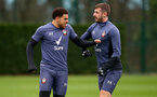 SOUTHAMPTON, ENGLAND - DECEMBER 18: Che Adams(L) and Jack Stephens during a Southampton FC training session at the Staplewood Campus on December 18, 2020 in Southampton, England. (Photo by Matt Watson/Southampton FC via Getty Images)