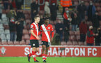SOUTHAMPTON, ENGLAND - DECEMBER 19: James Ward-Prowse(L) of Southampton and Nathan Tella(R) of Southampton during the Premier League match between Southampton and Manchester City at St Mary's Stadium on December 19, 2020 in Southampton, England. A limited number of fans (2000) are welcomed back to stadiums to watch elite football across England. This was following easing of restrictions on spectators in tiers one and two areas only. (Photo by Matt Watson/Southampton FC via Getty Images)