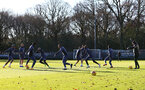 SOUTHAMPTON, ENGLAND - DECEMBER 24: Southampton players in good spirits during a Southampton FC training session at the Staplewood Campus on December 24, 2020 in Southampton, England. (Photo by Matt Watson/Southampton FC via Getty Images)