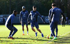 SOUTHAMPTON, ENGLAND - DECEMBER 24: Shane Long(centre) during a Southampton FC training session at the Staplewood Campus on December 24, 2020 in Southampton, England. (Photo by Matt Watson/Southampton FC via Getty Images)