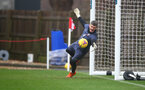 SOUTHAMPTON, ENGLAND - DECEMBER 28: Fraser Forster save sequence during a Southampton FC training session at the Staplewood Campus on December 28, 2020 in Southampton, England. (Photo by Matt Watson/Southampton FC via Getty Images)
