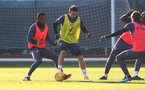 SOUTHAMPTON, ENGLAND - JANUARY 02: Ibrahima Diallo(L) and Danny Ings during a Southampton FC training session at the Staplewood Campus on January 02, 2021 in Southampton, England. (Photo by Matt Watson/Southampton FC via Getty Images)