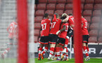 SOUTHAMPTON, ENGLAND - JANUARY 04: Danny Ings of Southampton celebrates scoring with his team mates during the Premier League match between Southampton and Liverpool at St Mary's Stadium on January 04, 2021 in Southampton, England. (Photo by Matt Watson/Southampton FC via Getty Images)