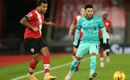 SOUTHAMPTON, ENGLAND - JANUARY 04: Ryan Bertrand(L) of Southampton and Alex Oxlade-Chamberlain (R) of Liverpool during the Premier League match between Southampton and Liverpool at St Mary's Stadium on January 04, 2021 in Southampton, England. (Photo by Matt Watson/Southampton FC via Getty Images)