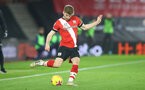 SOUTHAMPTON, ENGLAND - JANUARY 04: Stuart Armstrong of Southampton during the Premier League match between Southampton and Liverpool at St Mary's Stadium on January 04, 2021 in Southampton, England. (Photo by Matt Watson/Southampton FC via Getty Images)