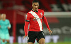 SOUTHAMPTON, ENGLAND - JANUARY 04: Yan Valery of Southampton during the Premier League match between Southampton and Liverpool at St Mary's Stadium on January 04, 2021 in Southampton, England. (Photo by Matt Watson/Southampton FC via Getty Images)