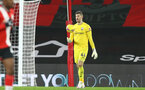 SOUTHAMPTON, ENGLAND - JANUARY 04: Fraser Forster of Southampton during the Premier League match between Southampton and Liverpool at St Mary's Stadium on January 04, 2021 in Southampton, England. (Photo by Matt Watson/Southampton FC via Getty Images)