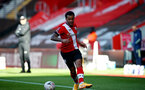 SOUTHAMPTON, ENGLAND - JANUARY 23: Ryan Bertrand of during the FA Cup fourth round match between Southampton FC and Arsenal FC, at St.Mary's stadium, on January 23, 2021 in Southampton, England. Sporting stadiums around the UK remain under strict restrictions due to the Coronavirus Pandemic as Government social distancing laws prohibit fans inside venues resulting in games being played behind closed doors. (Photo by Matt Watson/Southampton FC via Getty Images)