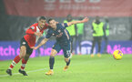 SOUTHAMPTON, ENGLAND - JANUARY 26: Yan Valery (L) of Southampton and Cedric Soares (R) of Arsenal during the Premier League match between Southampton and Arsenal at St Mary's Stadium on January 26, 2021 in Southampton, England. Sporting stadiums around the UK remain under strict restrictions due to the Coronavirus Pandemic as Government social distancing laws prohibit fans inside venues resulting in games being played behind closed doors. (Photo by Matt Watson/Southampton FC via Getty Images)