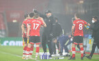 SOUTHAMPTON, ENGLAND - JANUARY 26: Ralph Hasenhuttl Southampton manager during the Premier League match between Southampton and Arsenal at St Mary's Stadium on January 26, 2021 in Southampton, England. Sporting stadiums around the UK remain under strict restrictions due to the Coronavirus Pandemic as Government social distancing laws prohibit fans inside venues resulting in games being played behind closed doors. (Photo by Matt Watson/Southampton FC via Getty Images)