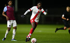 LONDON, ENGLAND - JANUARY 29: Kgaogelo Chauke of Southampton during the Premier League 2 match between West Ham United and Southampton B Team at Rush Green Training Ground on January 29, 2021 in London, England. (Photo by Isabelle Field/Southampton FC via Getty Images)