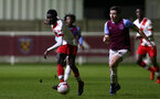 LONDON, ENGLAND - JANUARY 29: Lucas Defise of Southampton during the Premier League 2 match between West Ham United and Southampton B Team at Rush Green Training Ground on January 29, 2021 in London, England. (Photo by Isabelle Field/Southampton FC via Getty Images)