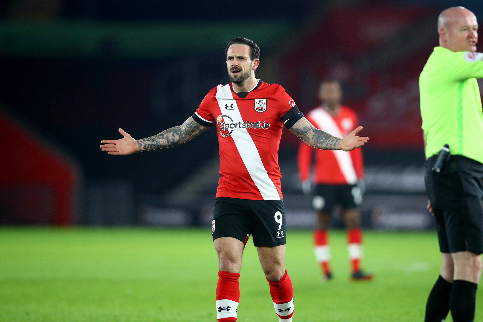 SOUTHAMPTON, ENGLAND - JANUARY 30: Danny Ings of Southampton  during the Premier League match between Southampton and Aston Villa at St Mary's Stadium on January 30, 2021 in Southampton, England. Sporting stadiums around the UK remain under strict restrictions due to the Coronavirus Pandemic as Government social distancing laws prohibit fans inside venues resulting in games being played behind closed doors. (Photo by Matt Watson/Southampton FC via Getty Images)