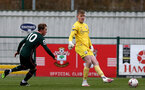 SOUTHAMPTON, ENGLAND - FEBRUARY 07: Jack Bycroft  of Southampton during the Premier League 2 match between  Southampton B Team and Tottenham Hotspur at Snows Stadium on February 07, 2021 in Southampton, England. (Photo by Isabelle Field/Southampton FC via Getty Images)